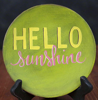 Hello Sunshine Hand Painted Plate