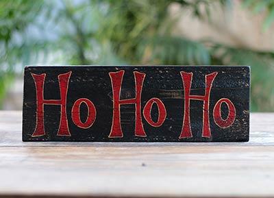 Ho Ho Ho Wood Sign