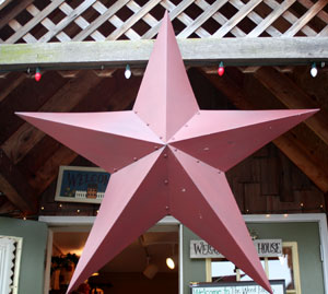 Primitive Wall Star, 48 inch - Barn Red