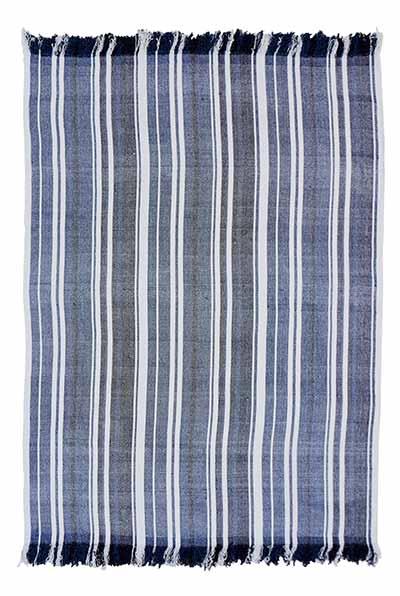 Huron Chambray Stripe Chenille Throw