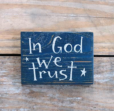 In God We Trust Wood Sign