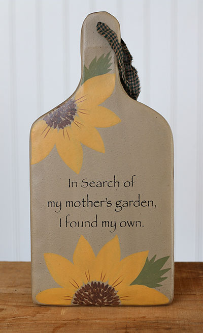 My Mother's Garden Hanging Paddle