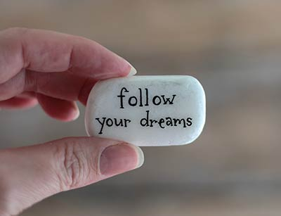 Follow Your Dreams Pocket Rock