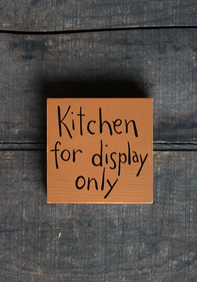 Kitchen for Display Only Shelf Sitter Sign