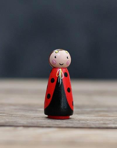Ladybug Girl Peg Doll