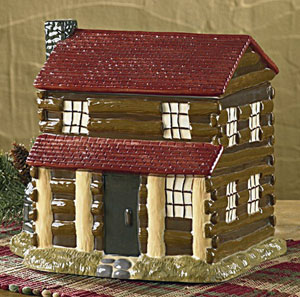 Log Cabin Cookie Jar