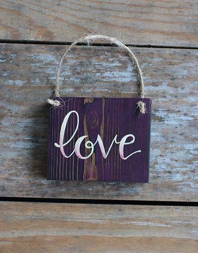 Love Sign Ornament (Purple)