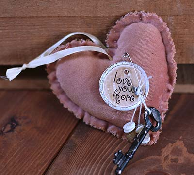 Love You More Heart Ornament