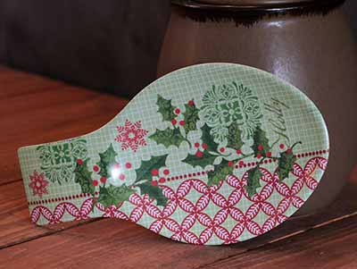 Holly Holiday Spoon Rest