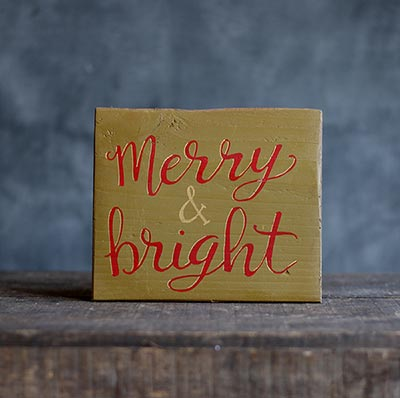 Merry & Bright Wood Sign