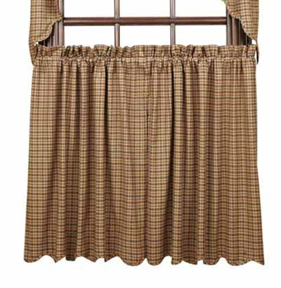 Millsboro Tiers - 36 inch (Burgundy and Navy Plaid)