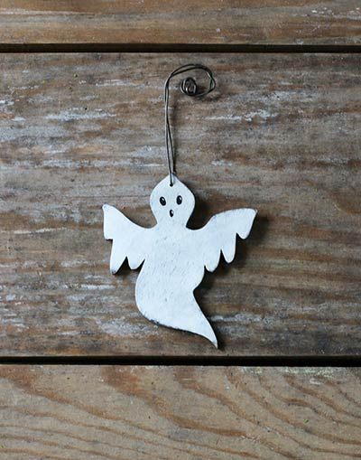 Distressed White Ghost Ornament