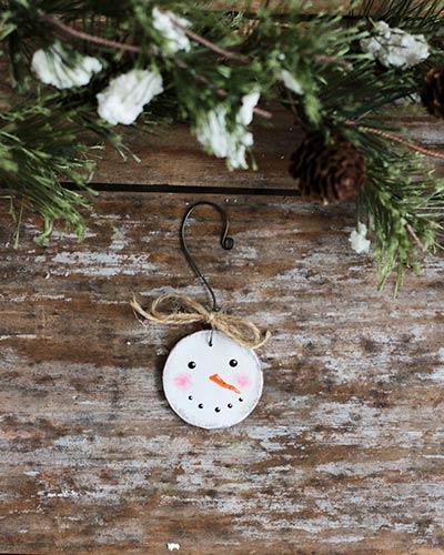 Mini Snowman Head Ornament