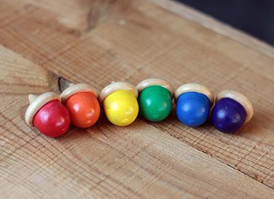 Rainbow Acorn Sorting Set (6 pc)