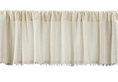 Tobacco Cloth Valance - Natural (72 inch)