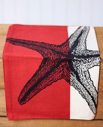 Starfish Printed Dishtowel