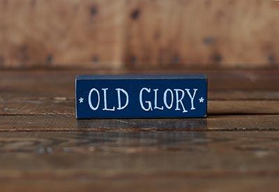 Old Glory Mini Stick Shelf Sitter - Blue
