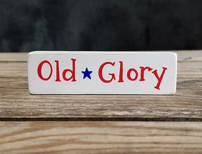 Old Glory Mini Stick Shelf Sitter with Star