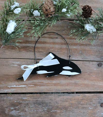 Orca Whale Ornament (Personalized)