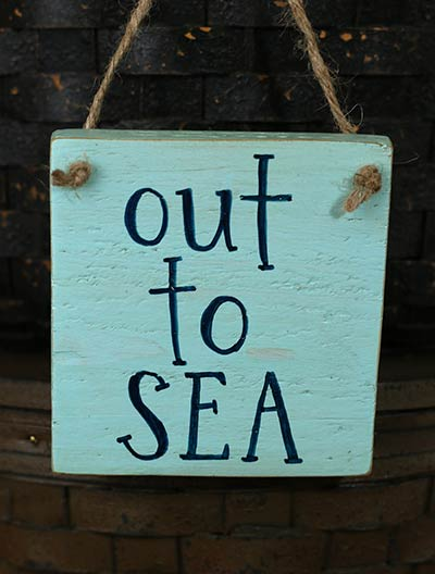 Out to Sea Small Wood Sign