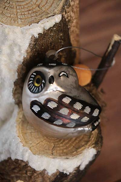 Winking Hooter Owl Ornament