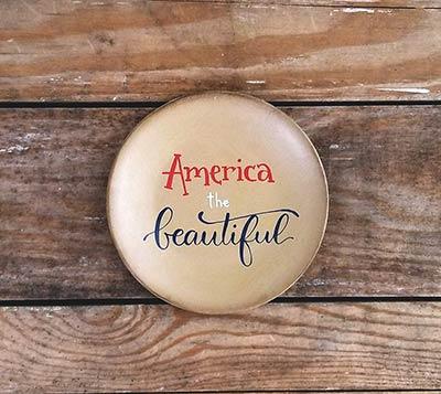 America the Beautiful Plate