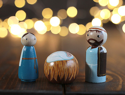 Nativity Peg Doll Set of 3
