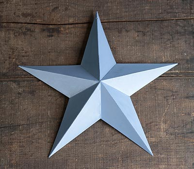 Periwinkle Blue Barn Star (Multiple Size Options)