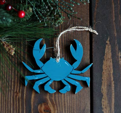 Blue Crab Ornament (Personalized)