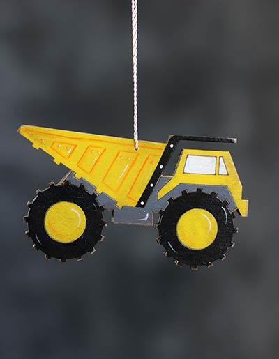 Dump Truck Personalized Ornament
