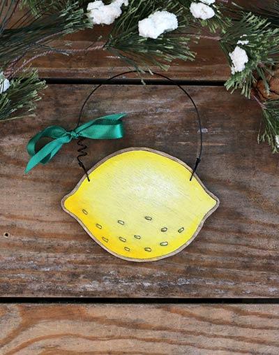 Lemon Personalized Ornament