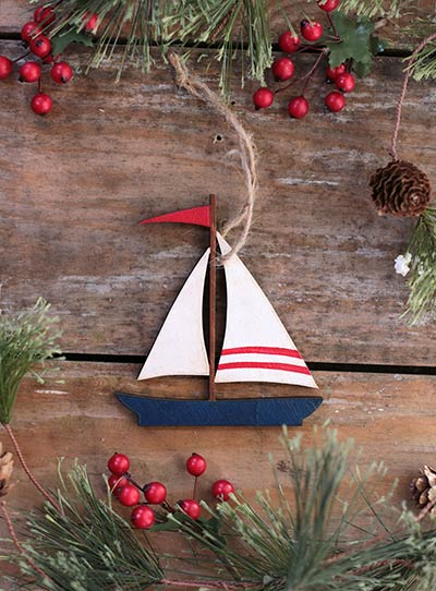 Sailboat Ornament (Personalized)