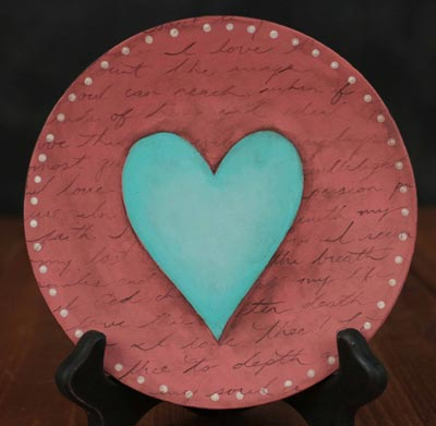 How Do I Love Thee Hand Painted Plate (Customization available)