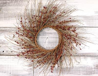 Burgundy Pip Berry & Twig Wreath