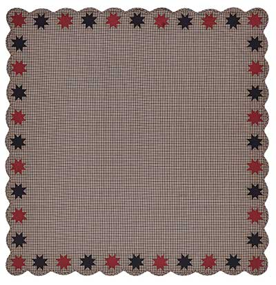 Carson Star Scalloped Table Cloth - 60 x 60 inch