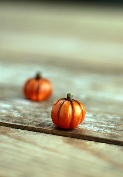 Miniature Pumpkin Figurine - Small