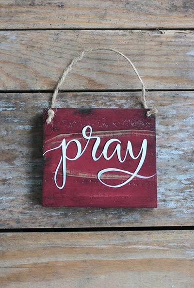 Pray Wood Sign
