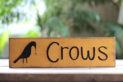 Crows Wooden Sign With Star