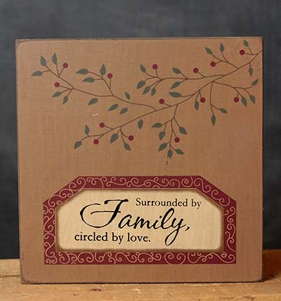 Circled by Love Wall Plaque