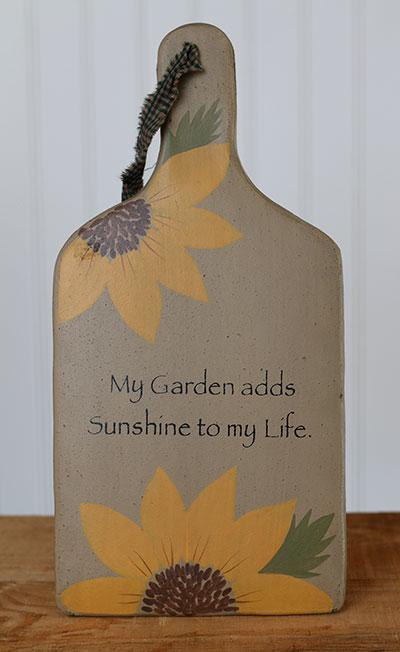 My Garden Adds Sunshine Hanging Paddle