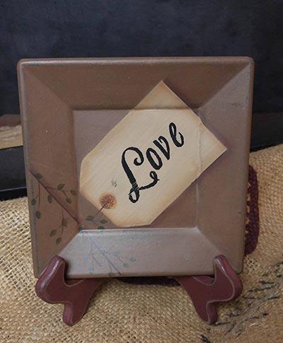 Love Square Plate