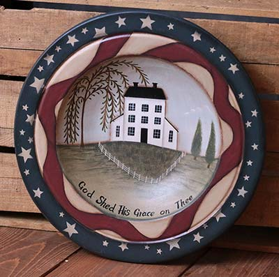 Patriotic Decorative Wooden Bowl