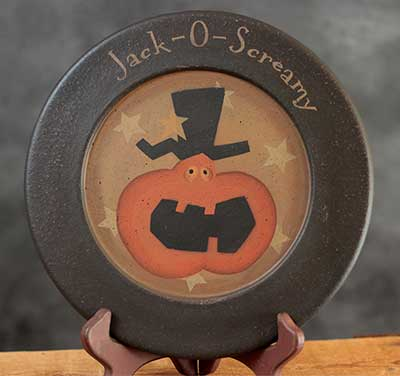Jack-O-Screamy Plate
