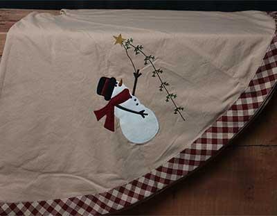 Pine Tree Wishes Christmas Tree Skirt
