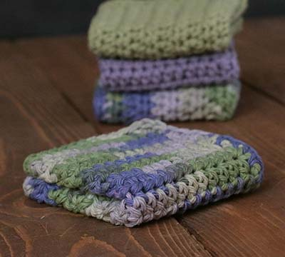 Herb Garden Crochet Dish Cloth