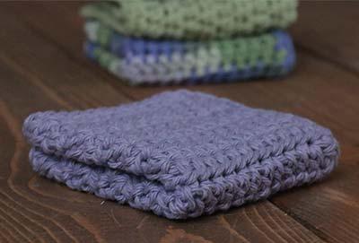Lavender Crochet Dish Cloth