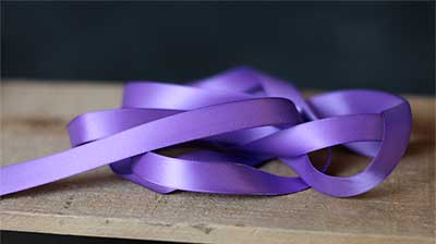 Lilac Purple Double Faced Poly Satin Ribbon, 1/2 inch