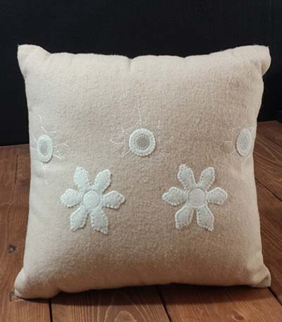 White Snowflakes Pillow