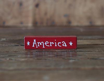 America Mini Stick Shelf Sitter - Red