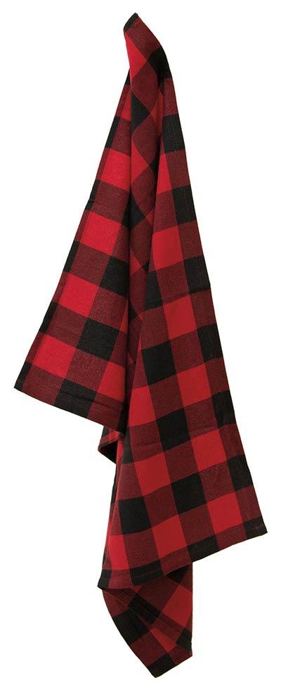Black & Red Buffalo Check Tea Towel